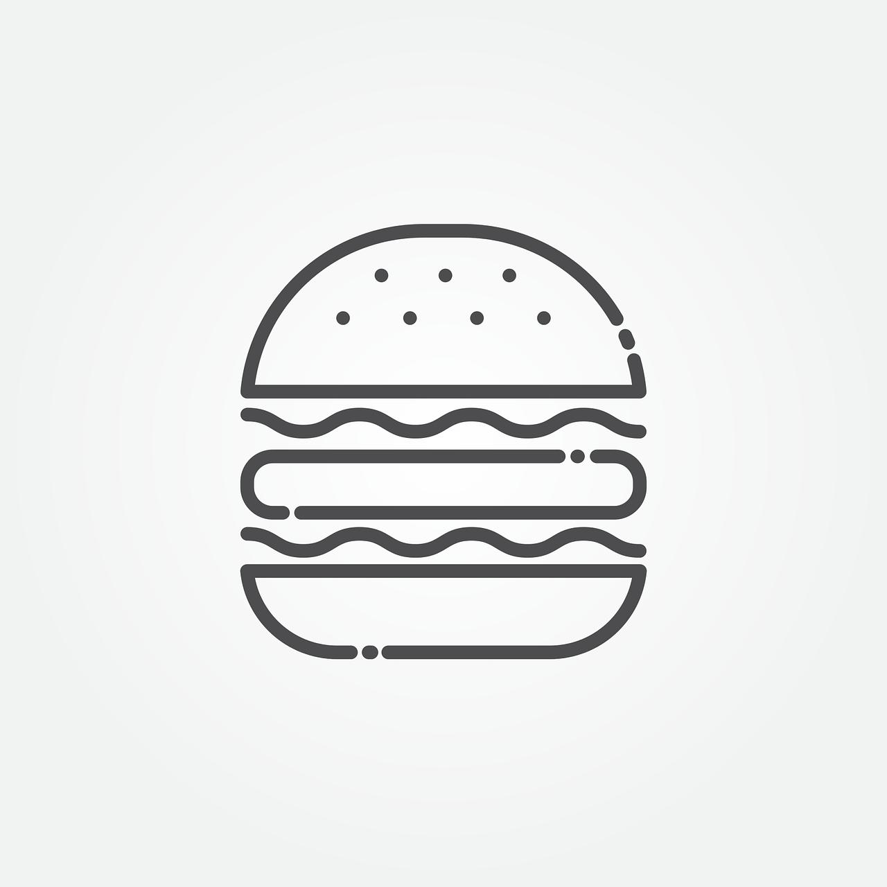 burger, icon, hamburger
